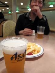 生ビール@おがさわら丸