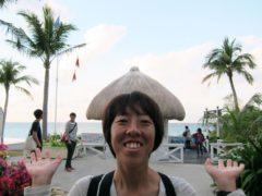 黒柳徹子風。@沖縄ムーンビーチホテル