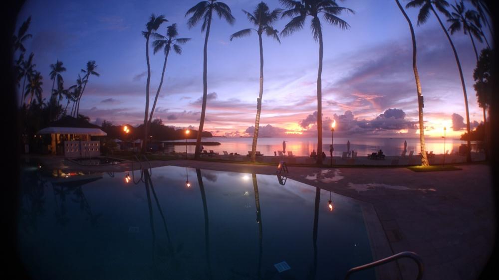 ホテルの夕焼け