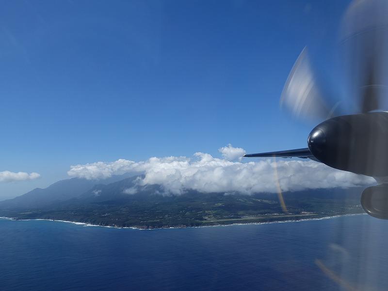 プロペラ機@屋久島ダイビングツアー