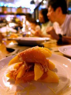 マンゴー生ハム@Giuseppe Pizzeria and Sicilian Roast