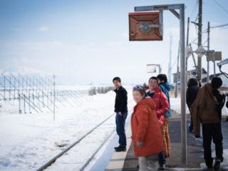 オホーツク海の見える駅