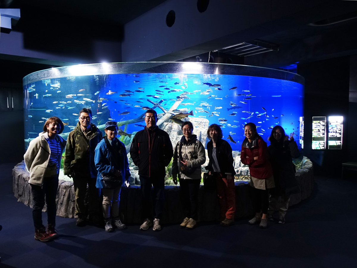 支笏湖のミニチュア展示