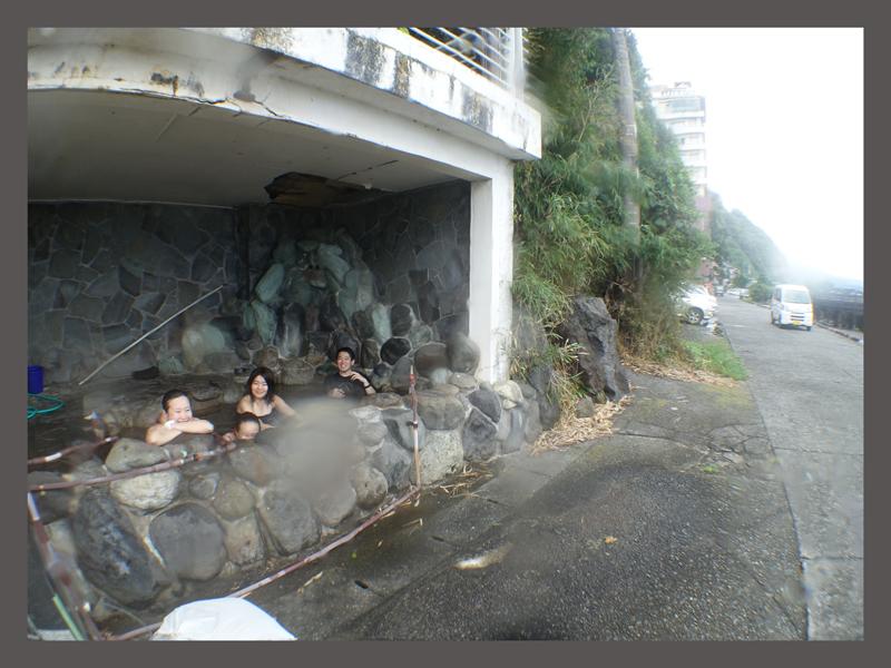 ダイビング後の温泉