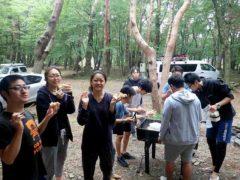 キャンプ@本栖湖ダイビングツアー