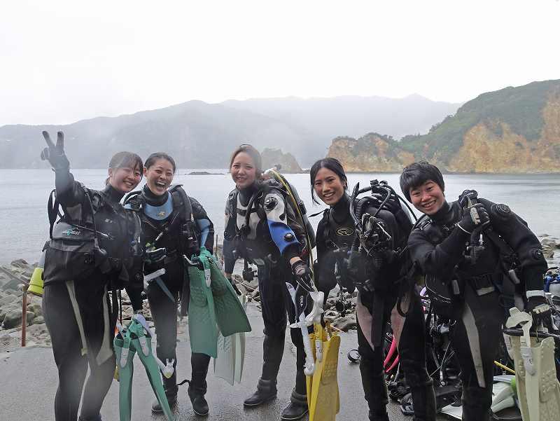 女性ダイバー@自由が丘ダイビングスクール