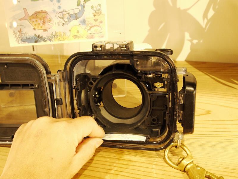 シリカゲル(乾燥剤)@水中カメラセッティング