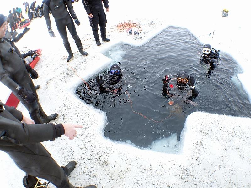 エントリー@北海道知床流氷アイスダイビングツアー